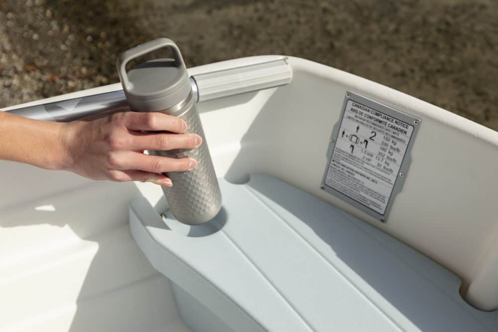 Many cup holders on our plastic boats
